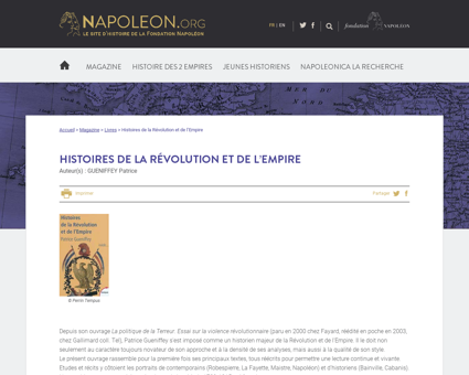 Histoires de la revolution et de lempire Patrice
