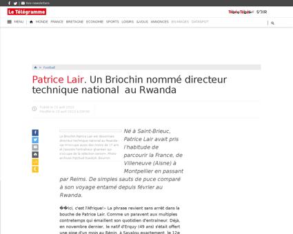 Patrice lair un briochin nomme directeur Patrice