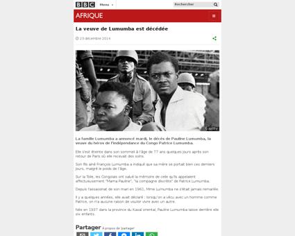Lumumba encore combien de Patrice