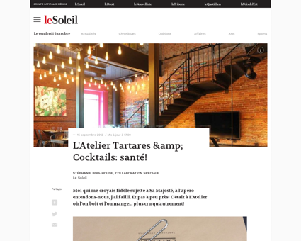 01 4573845 latelier tartares cocktails s Patrice