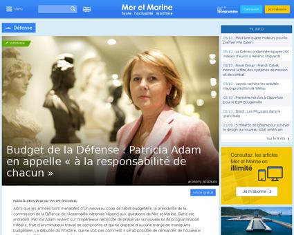Budget de la defense patricia adam en ap Patricia