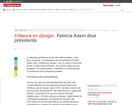 Enfance en danger patricia adam elue pre Patricia