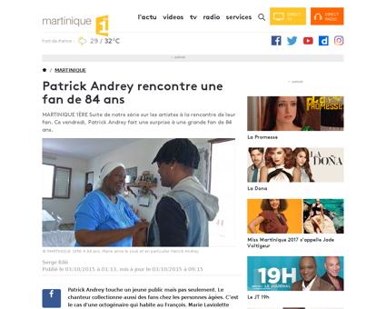 Patrick andrey rencontre une fan de 84 a Patrick
