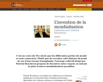 L invention de la mondialisation Patrick