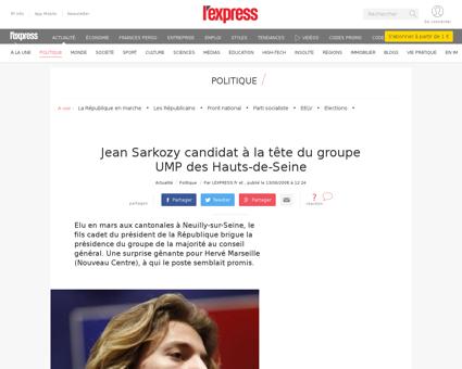 Jean sarkozy candidat a la tete du group Patrick