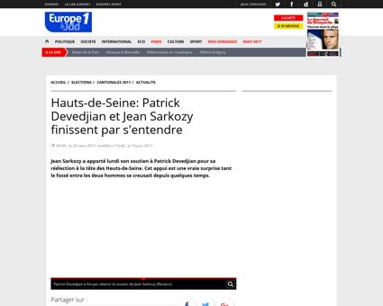Hauts de Seine Patrick Devedjian et Jean Patrick
