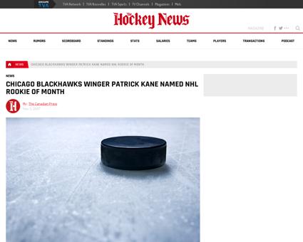 10675 Chicago Blackhawks winger Patrick  Patrick