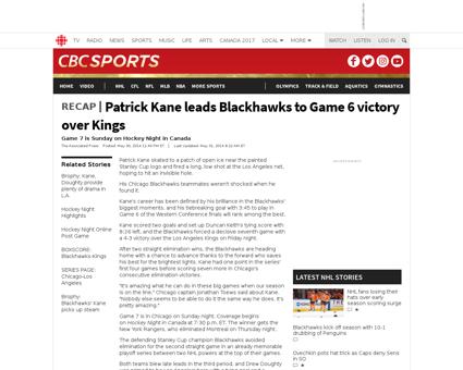 Patrick kane leads blackhawks to game 6  Patrick