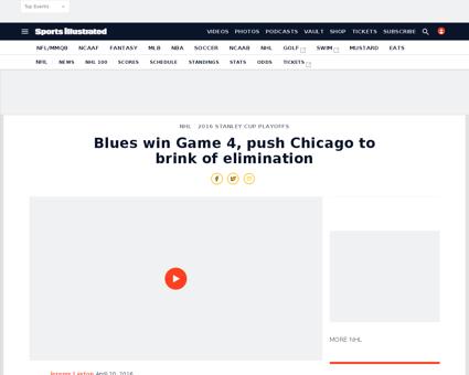 Blues beat blackhawks game 4 tarasenko c Patrick
