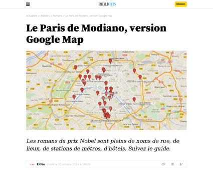Le paris de modiano version google map Patrick