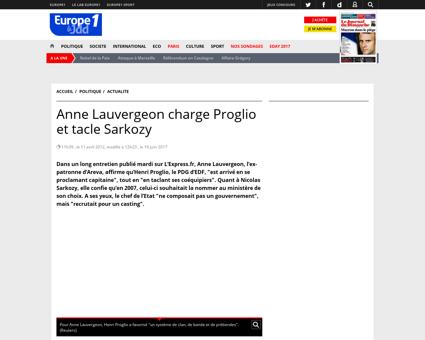 Anne Lauvergeon charge Proglio et tacle  Patrick
