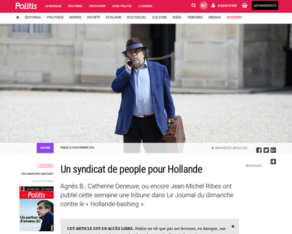 Un syndicat de people pour hollande 3582 Patrick