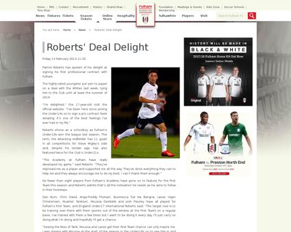 Roberts deal delight Patrick