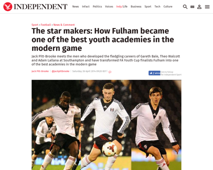 The star makers how fulham became one of Patrick