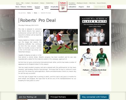 Roberts pro deal Patrick