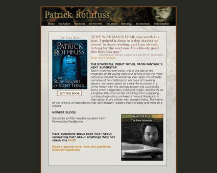 patrickrothfuss.com Patrick