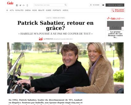 Patrick sabatier retour en grace 139795 Patrick