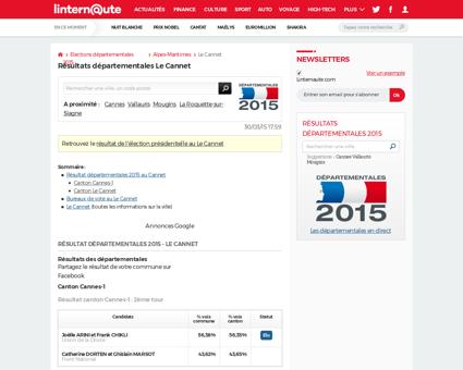 Ville 06030#resultat cantonales 2008 le  Patrick