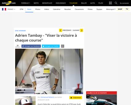 Adrien tambay viser la victoire a chaque Patrick