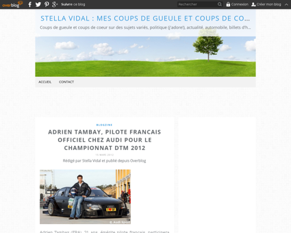 Article adrien tambay pilote francais of Patrick