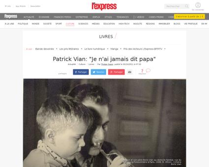 Patrick vian je n ai jamais dit papa 103 Patrick