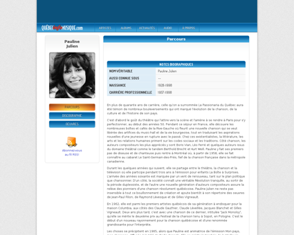 Biographie ?artistid=233 Pauline
