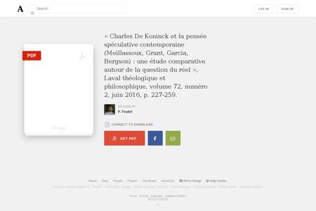 Charles De Koninck et la pens%C3%A9e sp Quentin