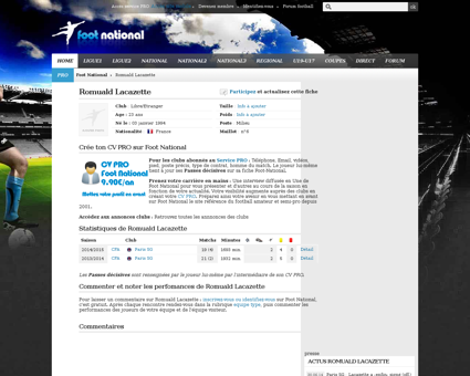 foot national.com' Romuald