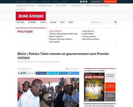 Benin patrice talon nomme gouvernement p Romuald