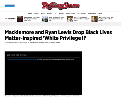 Macklemore and ryan lewis drop black liv Ryan