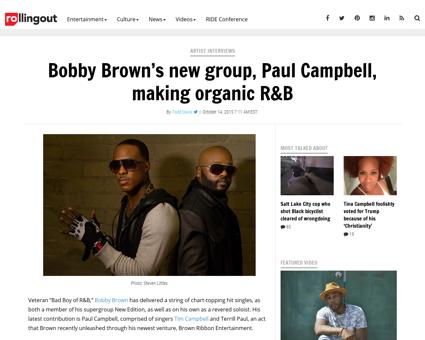 Bobby browns new group paul campbell mak Ryan