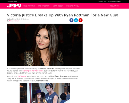Victoria justice breaks up with ryan rot Ryan