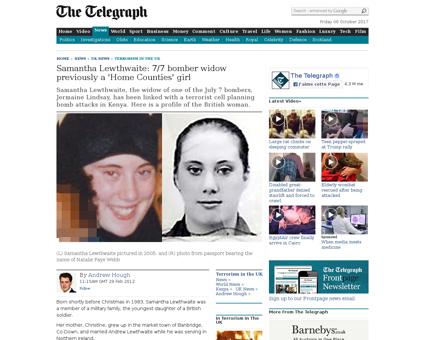 Samantha Lewthwaite 77 bomber widow prev Samantha