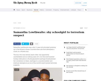Samantha lewthwaite shy schoolgirl to te Samantha