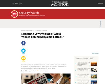 Samantha Lewthwaite Is White Widow behin Samantha
