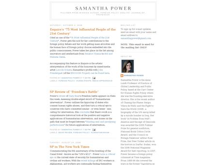 Samanthapower.blogspot.fr Samantha