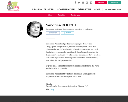 Sandrine doucet Sandrine