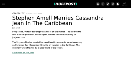 Stephen amell marries cassandra jean n 2 Stephen