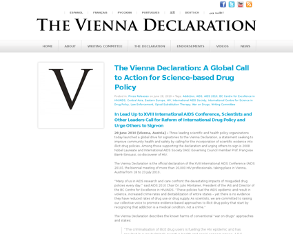 The vienna declaration a global call to  Stephen