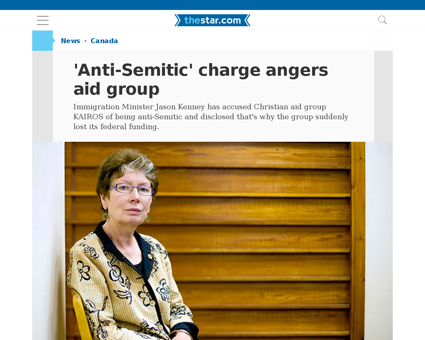 Antisemitic charge angers aid group Stephen