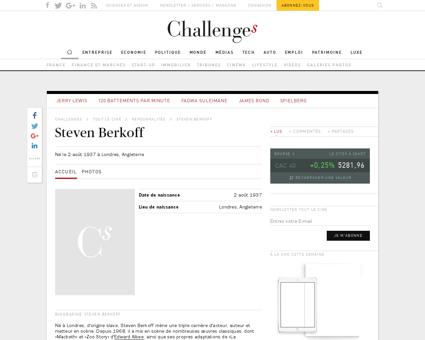 stevenberkoff.com Steven