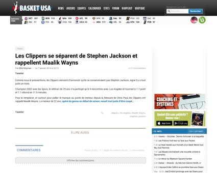 Les clippers se separent de stephen jack Stephen