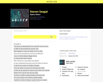 Alpha wann steven seagal lyrics Steven