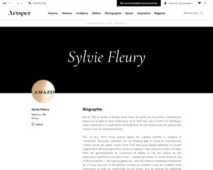 Sylvie fleury Sylvie