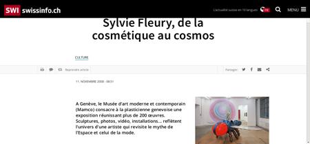 Sylvie Fleury de la cosmetique au cosmos Sylvie