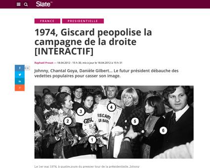 Photos campagne 1974 giscard people Sylvie
