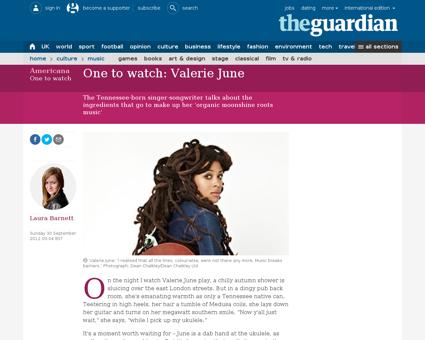 Valerie june one to watch Valerie