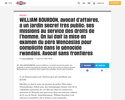 0101154381 william bourdon avocat d affa William