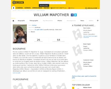 Fichepersonne gen cpersonne=50738 William