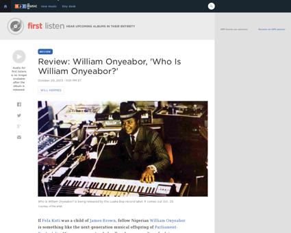 William ONYEABOR